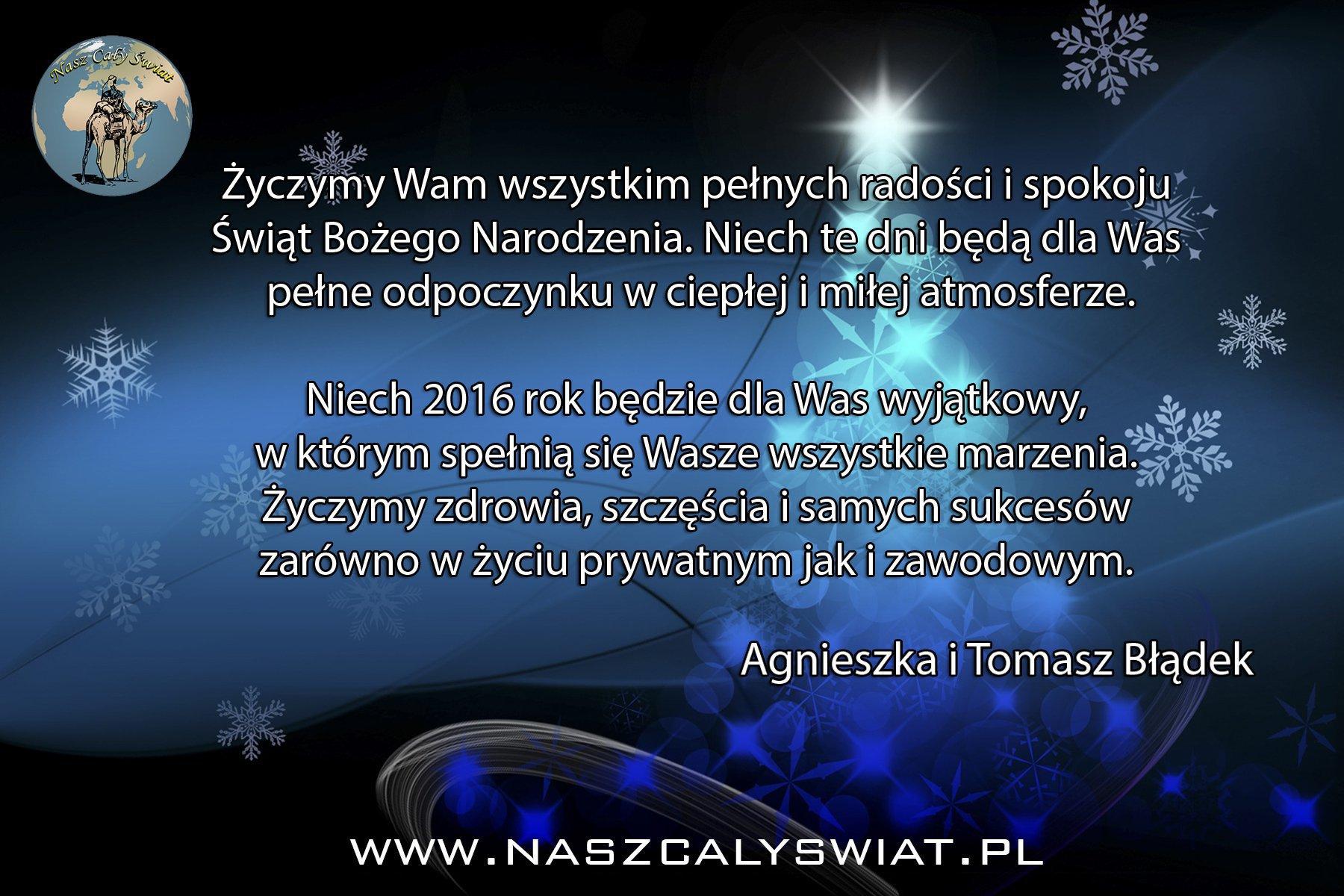 Życzenia świąteczno-noworoczna 2015