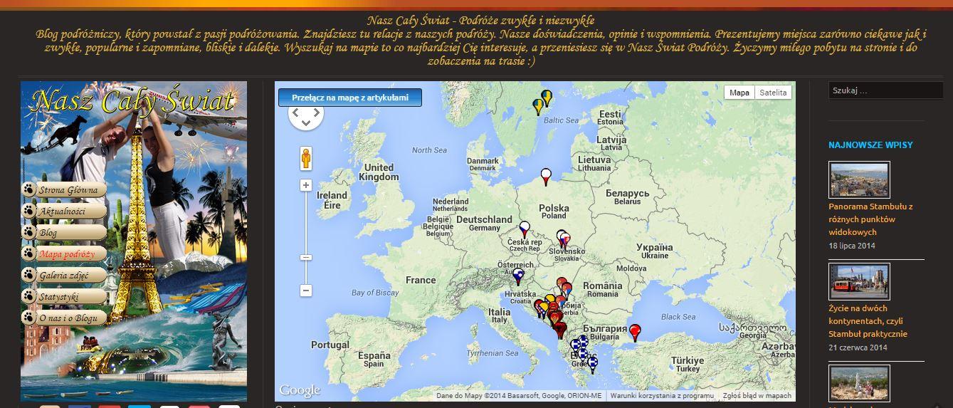Przyciski na mapie