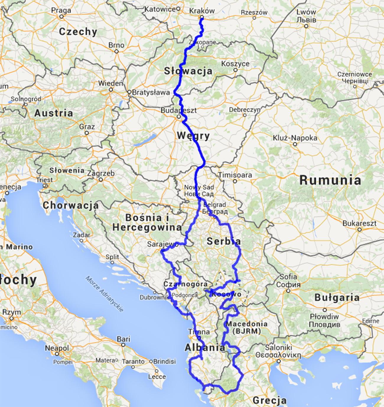 Plan podróży - wakacje 2015