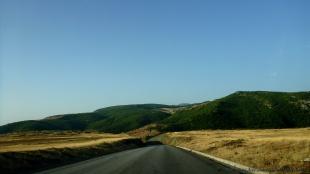 Droga od granicy z Macedonią
