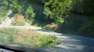 Droga od granicy w Hum
