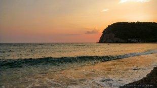 Zachód słońca w Buljarice