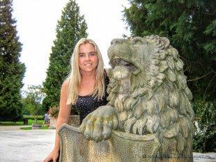 Posąg  lwa