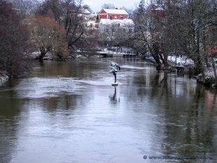 Rzeźba na rzece w Nyköping