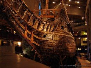 Okręt Waza znajduje się na wyspie Djurgården