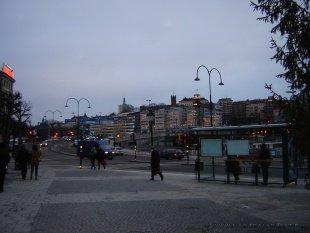 Sztokholm o zmierzchu