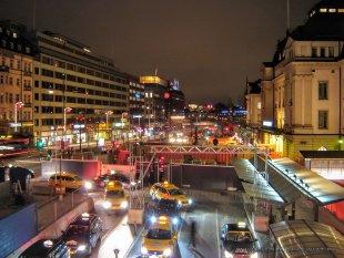 Sztokholm w nocy
